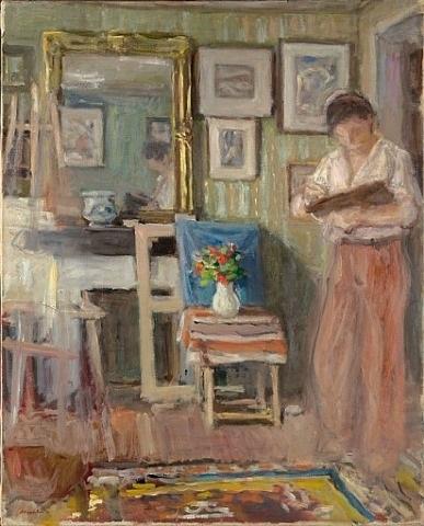 jean-pierre cézanne peignant dans l'atelier d'albert andré by albert andré