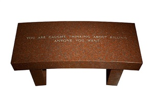 survival: you are caught thinking about killing anyone you want by jenny holzer