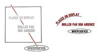 placed on display briller par son absence wheresoever by lawrence weiner