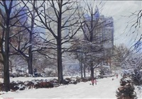 new york in snow by bogomir bogdanovic