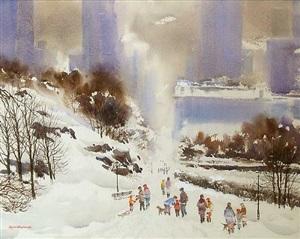 holiday season in central park by bogomir bogdanovic