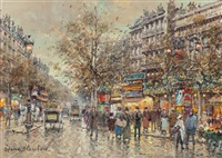 theatre du gymnase, paris by antoine blanchard