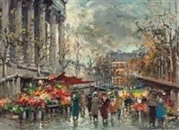 flower market, madeleine by antoine blanchard