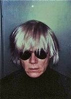 self-portrait with fright wig by andy warhol