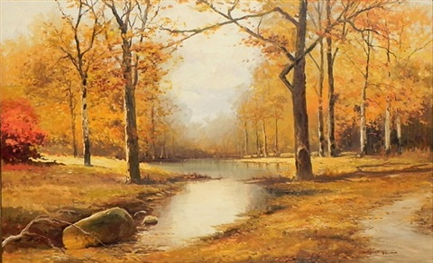 autumn scene by robert william wood