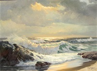 seascape by robert william wood