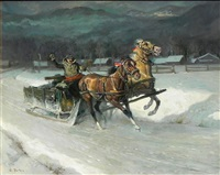 sleigh ride by lajos markos