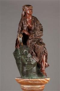 aida (three-piece sculpture) by gaston veuvenot leroux