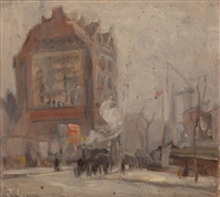 london street scene by john lavery