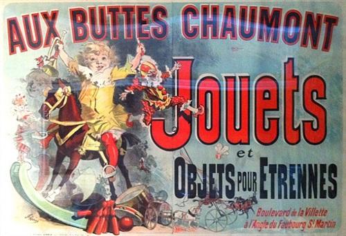 aux buttes chaumont – jouets et objects pour etrennes by jules chéret