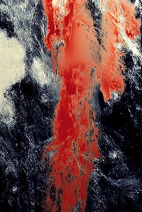 frozen semen with blood by andres serrano