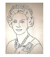 reigning queens: queen elizabeth of the united kingdom by andy warhol