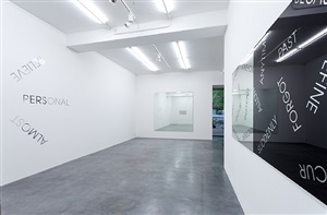 installation view by robert barry