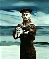 sailor with half cat by marianna gartner
