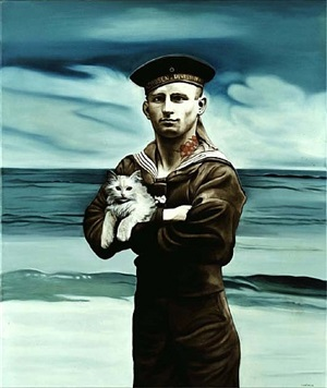 sailor with half cat by marianna gartner
