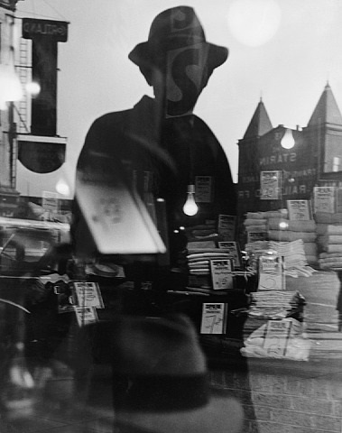 first reflection, new york, circa 1940's by lisette model