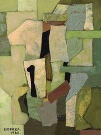 composition abstraite by tamara de lempicka