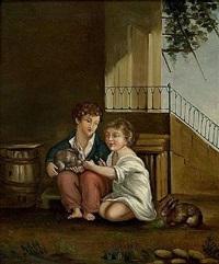 les deux enfants by paul cézanne