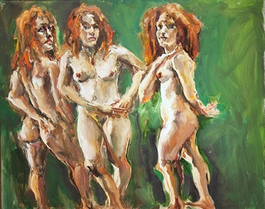 three graces by raoul middleman