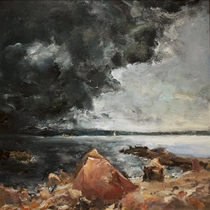 impending storm by raoul middleman
