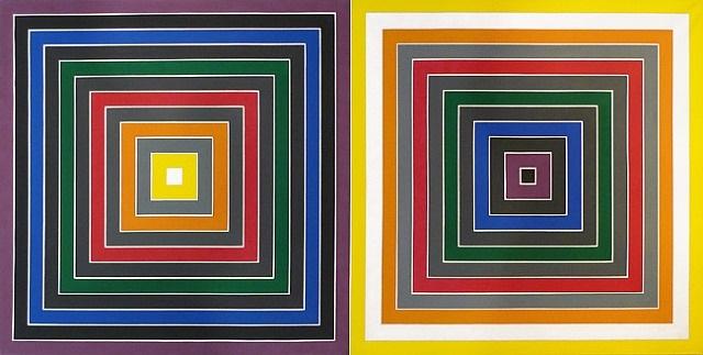grey scramble x (double) by frank stella