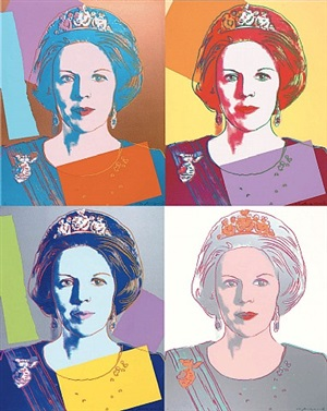 reigning queens: beatrix of the netherlands by andy warhol