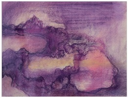 landscape violet by leiko ikemura