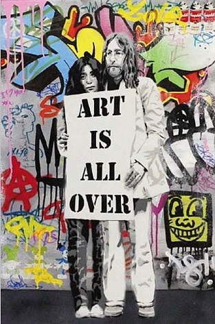 art is all over by mr. brainwash