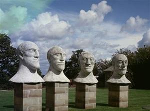 desert quartet heads i-iv by elisabeth frink
