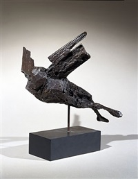 maquette for the alcock & brown memorial by elisabeth frink