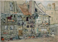 old paris on the quai—not for sale by maurice brazil prendergast