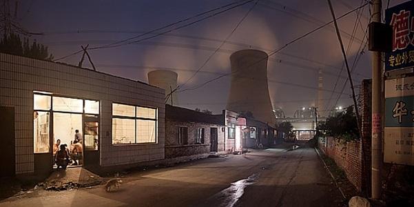 hutong neighborhood and huaneng coal fired power plant, dezhou shandong province, prc by philipp scholz rittermann