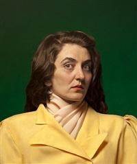 selfportrait as fahrelnissa zeid (after fahrelnissa zeid), by ozlem simsek