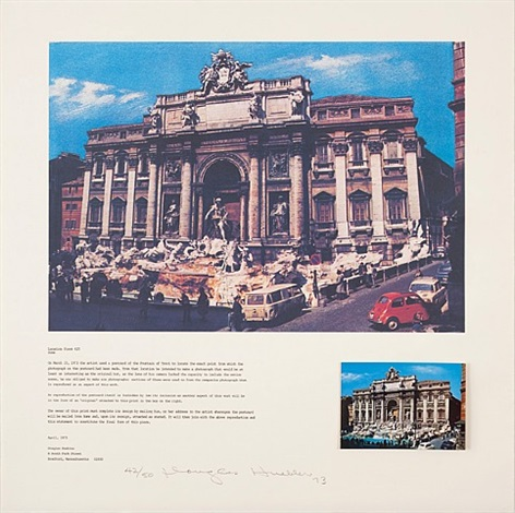 location piece #25, rome by douglas huebler