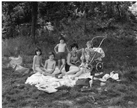 picnic on garret mountain, paterson, nj, 1968 by george tice