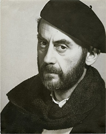 man ray in beret, self portrait by man ray