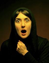 selfportrait as screaming lady (after nuri iyem) by ozlem simsek