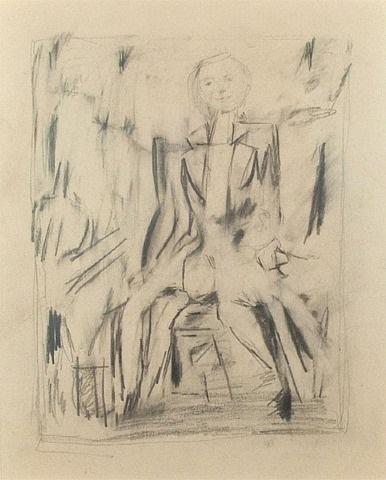 untitled seated figure (z. sharkey) by jack tworkov