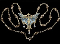 beautiful symbolist pendant by gaston laffitte