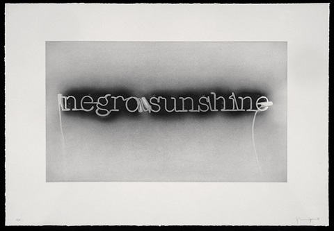 warm broad glow (reversed) by glenn ligon