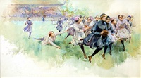 girls rugby by walter granville-smith
