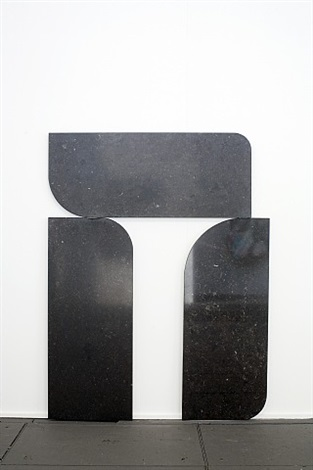 untitled (2 parking spaces, found) by gabriel kuri