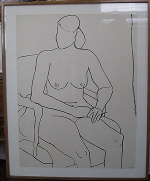 seated nude by richard diebenkorn