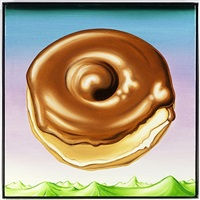 maple gazed donut over fertile landscape by kenny scharf