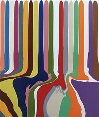 puddle painting: transparent white by ian davenport
