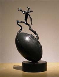 rugby sculpture by barry flanagan