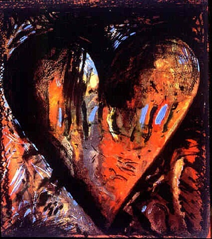 hand-colored viennese hearts ii by jim dine