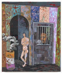 salome painting: locked up by richard hawkins
