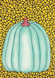 blue pumpkin by yayoi kusama