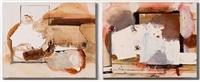shot/ reverse shot (dyptich) by elizabeth neel
